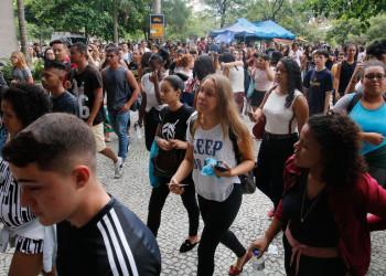 Estudantes em prova do Enem de ano anterior. Foto: Fernando Frazão/Agência Brasil