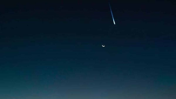 Meteoro registrado no céu, em Goiânia, em 22 de julho de 2020Foto: Bramon/Divulgação