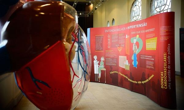 Exposição Vias do Coração no Museu da Vida, no Castelo da Fiocruz,  divulga o conhecimento sobre o coração, para estimular a prevenção das doenças cardiovasculares. Foto: Tomaz Silva/Agência Brasil